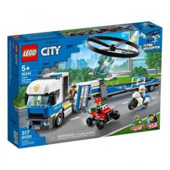 Изображение Конструктор Lego Конструктор  City Police Полицейский вертолётный транспорт 317 деталей (60244)