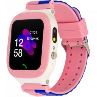 Изображение Smart часы ATRIX Смарт-часы  iQ2200 IPS Cam Flash Pink Детские телефон-часы с трекером (iQ2200 Pink)